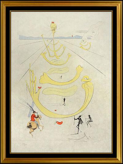 Salvador Dalí, 'Salvador Dali Mask Of Death Color Etching Hand Signed Surreal Horse Artwork SBO', 1975