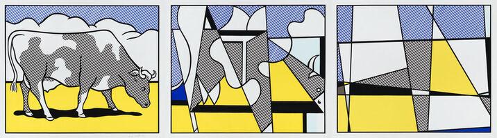 Roy Lichtenstein, 'Cow Going Abstract (Triptych)', 1982