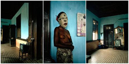 Leonce Raphael Agbodjelou, 'Untitled triptych (Demoiselles de Porto-Novo series)', 2012