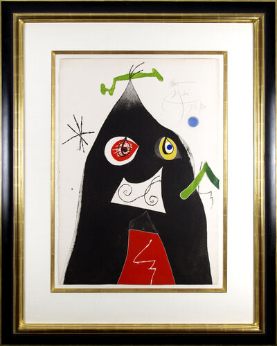 Joan Miró, 'Quatre colors aparien el món..., Plate I', 1974