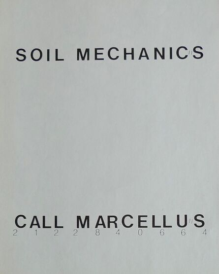 Richard Prince, 'Soil Mechanics', 1978