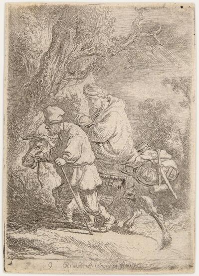 Rembrandt van Rijn, 'The Flight into Egypt, Small Plate', 1633