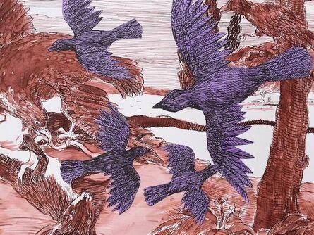 Sara Nesbitt, 'Crows and Eagle', 2020