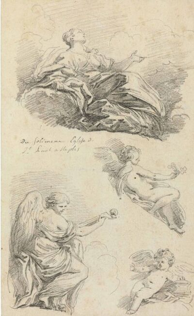 Jean-Honoré Fragonard, 'Angels making music, after Francesco Solimena'