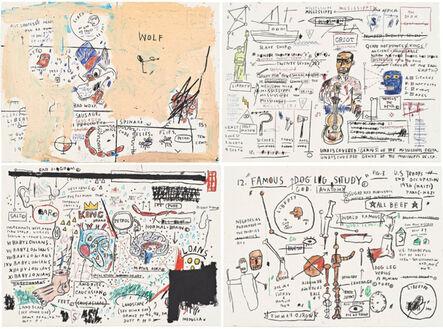 Jean-Michel Basquiat, 'Untitled (Wolf Sausage, King Brand, Dog Leg Study, Undiscovered Genius)', 2019