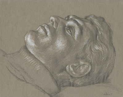 Paul Cadmus, 'Head of Man Reclining (C7)'