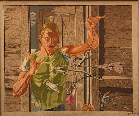 Louis Gartner, 'Louis Gartner Petit Point Needlework Tapestry after Paul Cadmus THE INVENTOR', 1960-1969