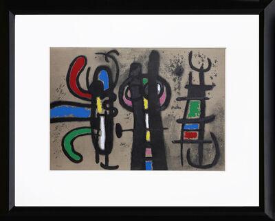 Joan Miró, 'Cartones 18: Personnage et Oiseau', 1965
