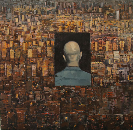 Ben Coutouvidis, 'Painted Collage with Endless City', 2017