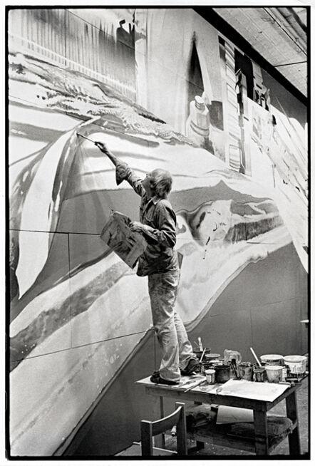 James Rosenquist, 'James Rosenquist working on Star Thief', 1980