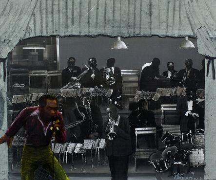 Sam Nhlengethwa, 'Fela and the jazz band', 2019