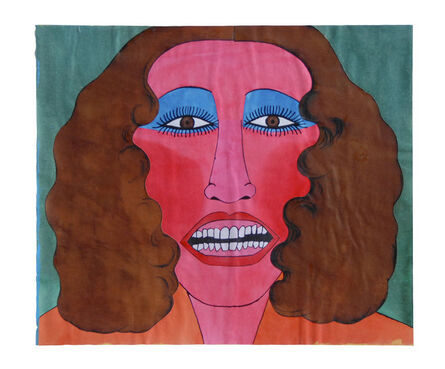 Larry Lewis, 'Untitled (Head: Woman with blue eye shadow brown hair)', ca. 1970
