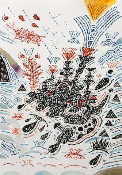 Shu-Kai Lin, '陽台城市文明出神遊記系列-6 The Balcony City Civilization-Drift Off Travels series-6', 2019
