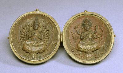 'Locket with Two Buddhist Deities', 13th century