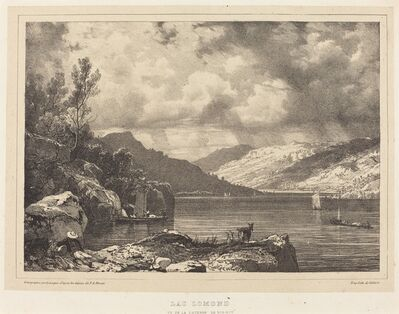 Richard Parkes Bonington after Francois Alexandre Pernot, 'Lac Lomond', 1826