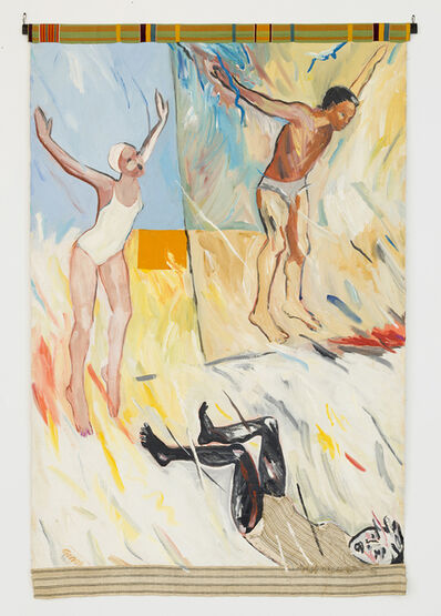 Emma Amos, 'Tumbling After', 1986