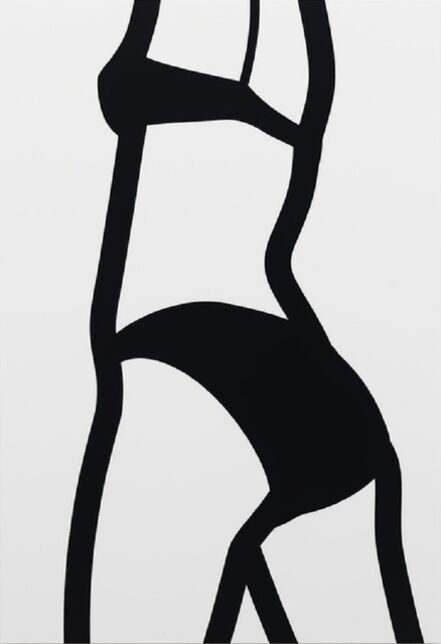 Julian Opie, 'Watching Suzanne (back) 7 (2006) (signed)', 2006