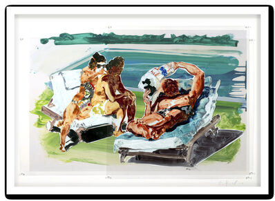 Eric Fischl, 'Poolside Loungers', 2017