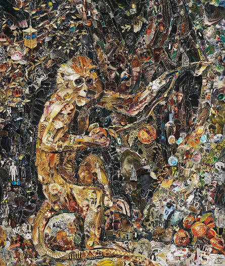 Vik Muniz, 'Green Monkey, after George Stubbs from Pictures of Magazines 2', 2011