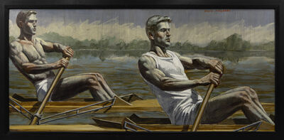 Mark Beard, '[Bruce Sargeant (1898-1938)] Two Rowers Gliding Across the Water', n.d.
