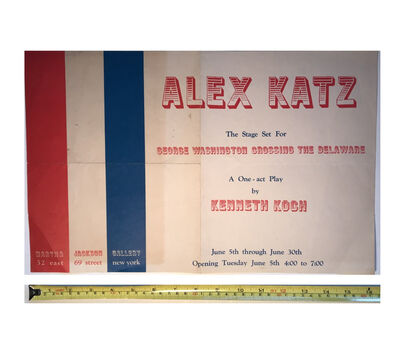 "Alex Katz, '""Alex Katz"", 1962, Stage Set, Invitation/Poster, Kenneth Koch, Martha Jackson Gallery NYC', 1962"