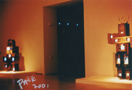 "Nam June Paik, 'Series of Three Prints: 1. Family Robot, 2001, 2. Basel Matric, 1996/2001, 3. Modulation in Sync: Jacob's Ladder 2001""', 2001"