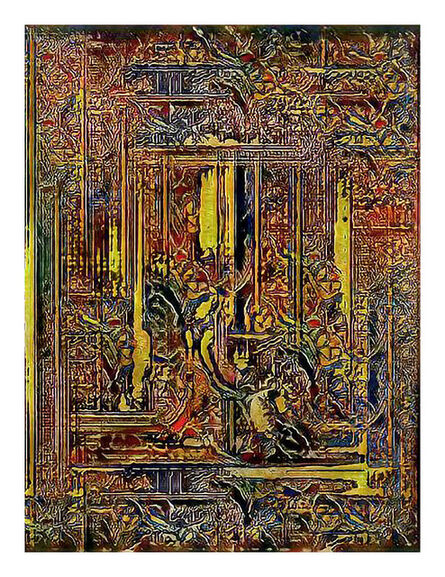 Jason Salavon, 'Narrative Frame (Illuminated Manuscripts 4)', 2019