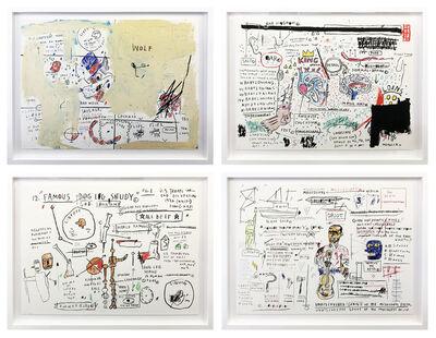 Jean-Michel Basquiat, 'PORTFOLIO OF WOLF SAUSAGE, KING BRAND, DOG LEG STUDY AND UNDISCOVERED GENUIS', 2019