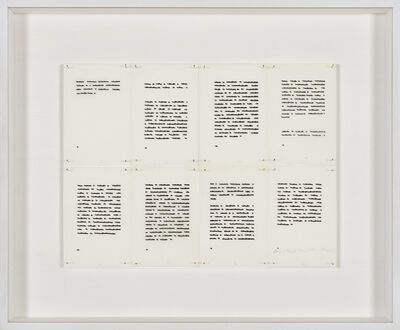 Irma Blank, 'Klar Text 21', 1977