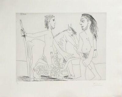 """Pablo Picasso, 'Suite """"Les 347"""", Télévision : combat de chars à l'antique ', 1968"""