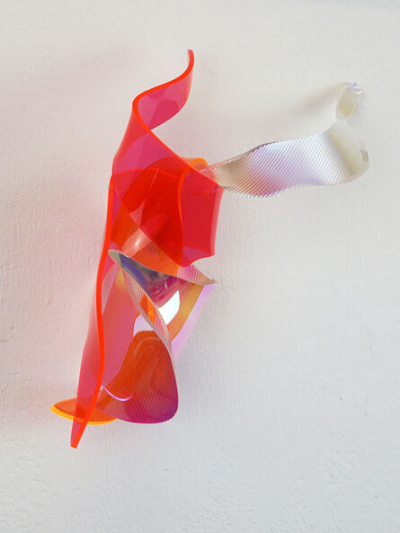 Berta Fischer, 'Satohi, orange rot grün', 2017