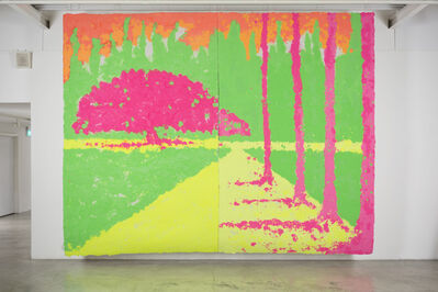 Shinro Ohtake, 'Yellow Path 1', 2015