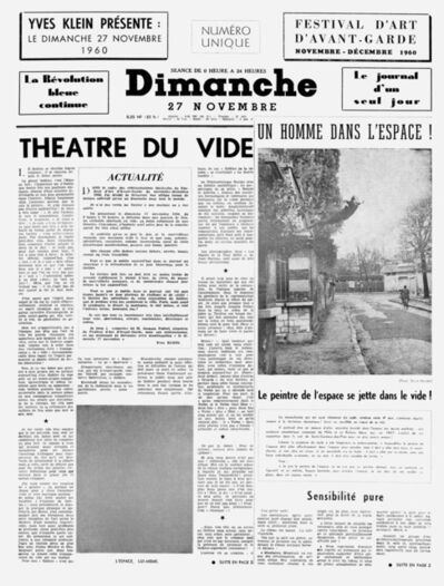 """Yves Klein, 'Dimanche 27 novembre 1960 """"Le journal d'un seul jour""""', 1960"""