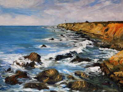 Terrill Welch, 'Early March at Arena Lighthouse California Coast', 2015