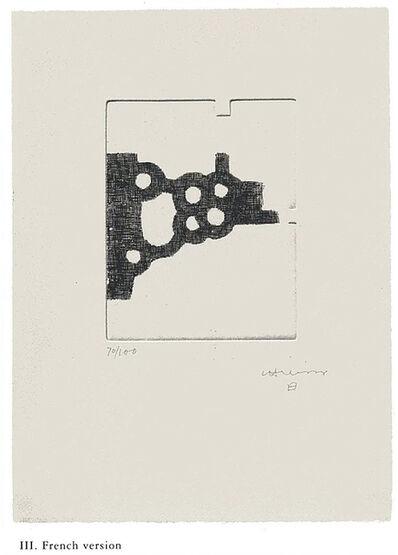 "Eduardo Chillida, '""Literature or Life"" French Edition', 1997"