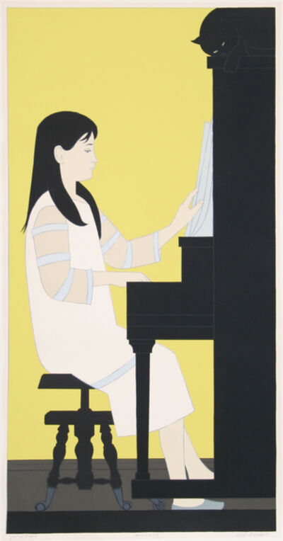 Will Barnet, 'Girl at Piano', 1973