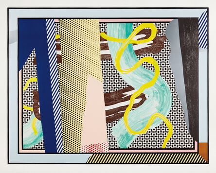 Roy Lichtenstein, 'Reflections on Brushstrokes, from the Reflection Series', 1990