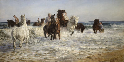 Lucy Kemp-Welch, 'Horses bathing in the Sea', 1900