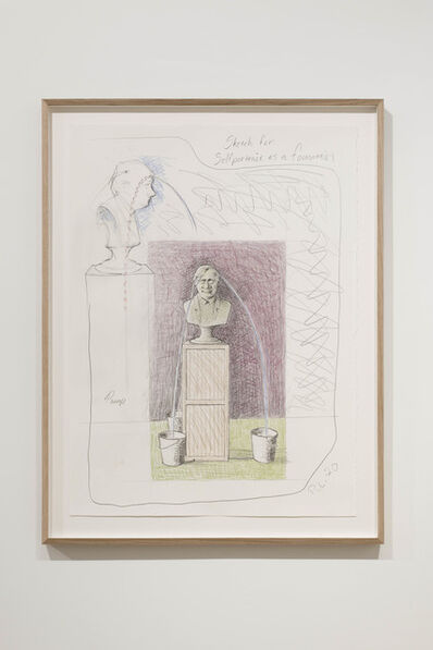 Peter Land, 'Sketch for Selfportrait as a Fountain', 2020