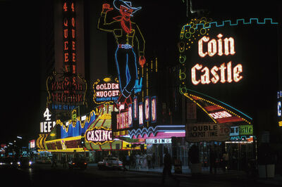 Ernst Haas, 'Las Vegas at night, Coin Castle', 1975