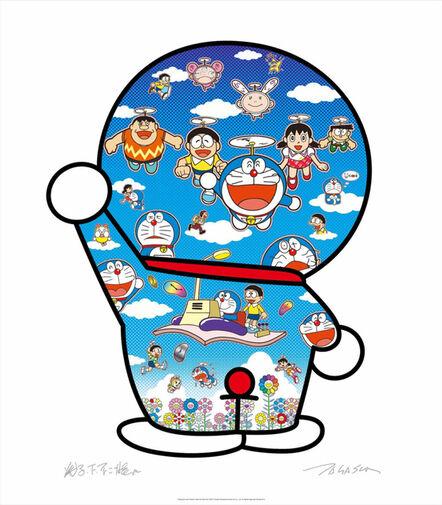 Takashi Murakami, 'Doraemon under the blue sky', 2020