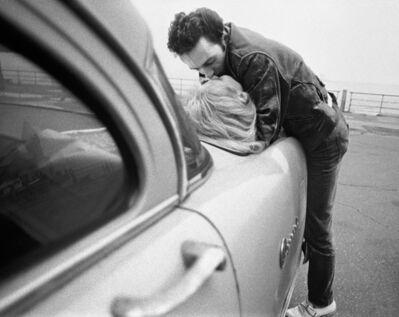 Bob Gruen, 'Joe Strummer & Gaby - Kiss on Car, NYC', 1981