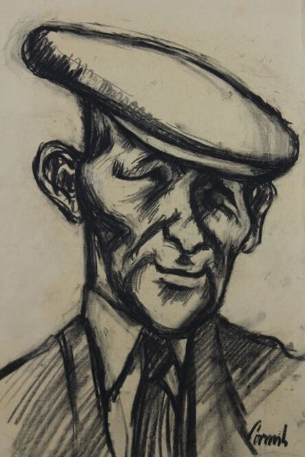 Norman Cornish, 'Miner in Flat Cap', ca. 1965