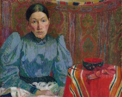 Cuno Amiet, 'Bildnis Emilie Amiet-Baer', 1894