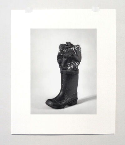 """Martí Cormand, 'Formalizing their concept: Marcel Broodthaers' """"Boot and photographic canvas, 1968""""', 2014"""