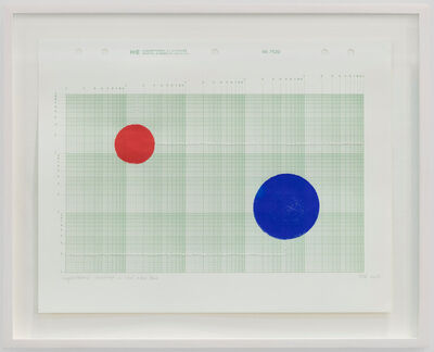 Elena del Rivero, ' Logarithmic drawing in red and blue, #1', 2017