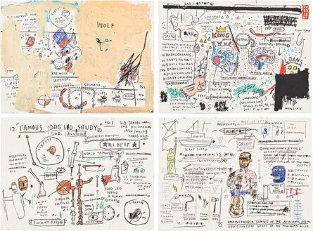 Jean-Michel Basquiat, 'Untitled Portfolio (Wolf Sausage, King Brand, Dog Leg Study and Undiscovered Genius)', 1982-2019