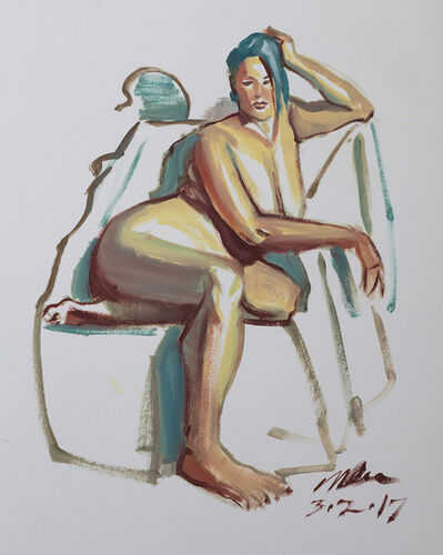 Mark Ross, 'Untitled (Blue Hair Seated)', 2017