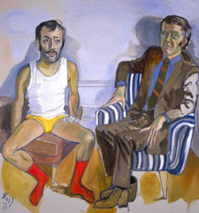 Alice Neel, 'David Bourdon and Gregory Battcock', 1970