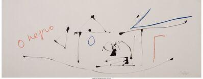 Robert Motherwell, 'Through black emerge purified (from El Negro)', 1982-83